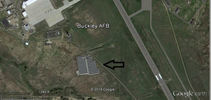Throughout the country, TARP funding was used to install large scale PV farms on government property like this facility at Buckley Air Force Base in Colorado.