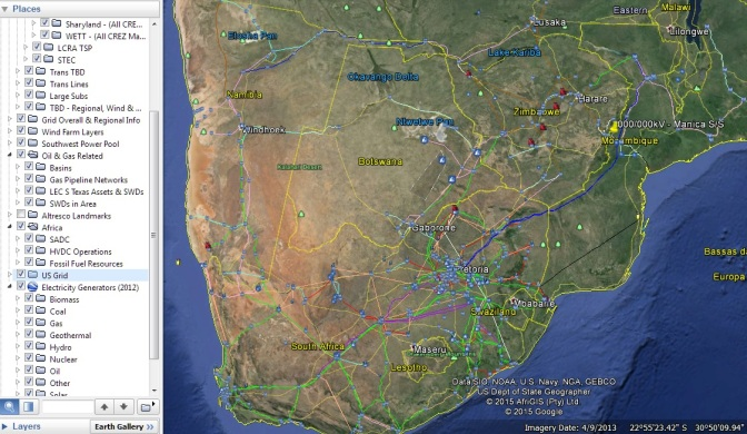 Countless global development analyses claimed Southern Africa had minimal grid.  Over 40,000km of high voltage transmission lines mapped later, SAPP is not grid limited, rather they have the infrastructure nucleus to enter a rapidly changing energy mixture with strength, not weaknesses.